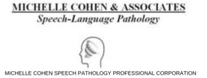 MICHELLE COHEN SPEECH PATHOLOGY PROFESSIONAL CORPORATion logo