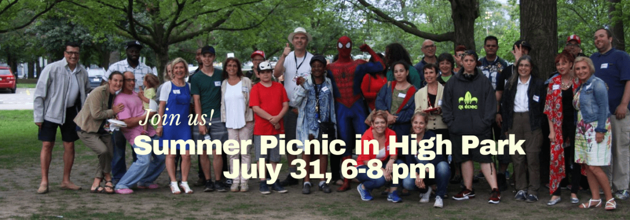 Summer Picnic in High Park July 31, 6-8 pm