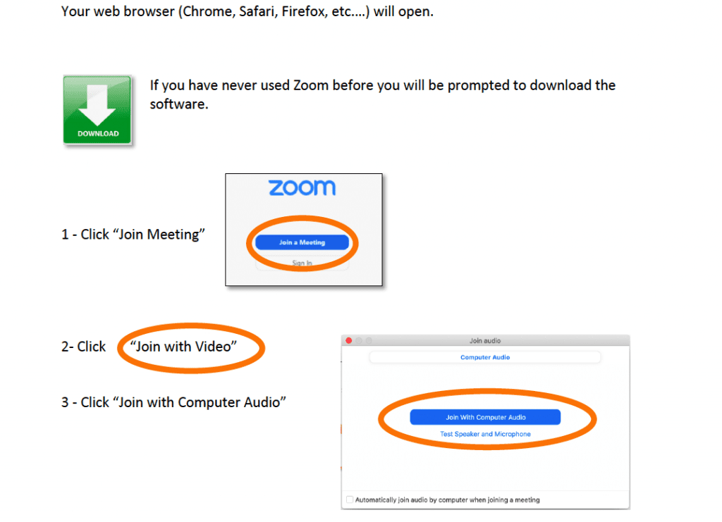 How to use zoom on a pc