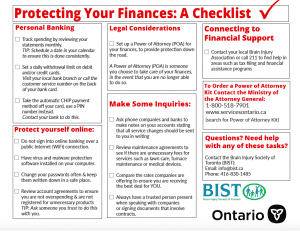 Protecting your finances: a checklist