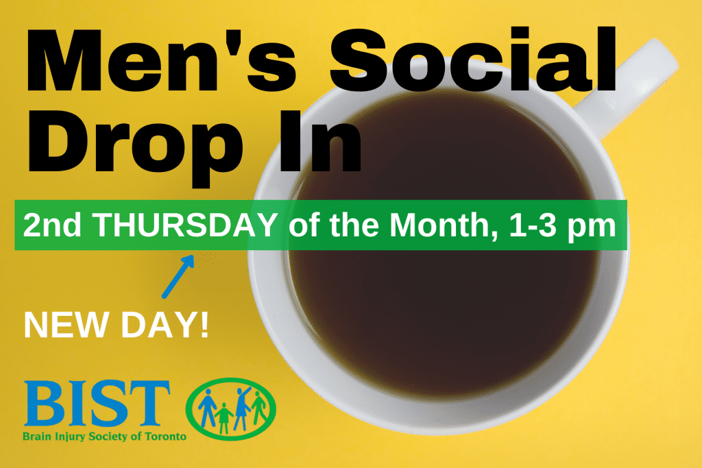 Men's Social Drop-In - Second Thursday of the Month, 1-3 pm