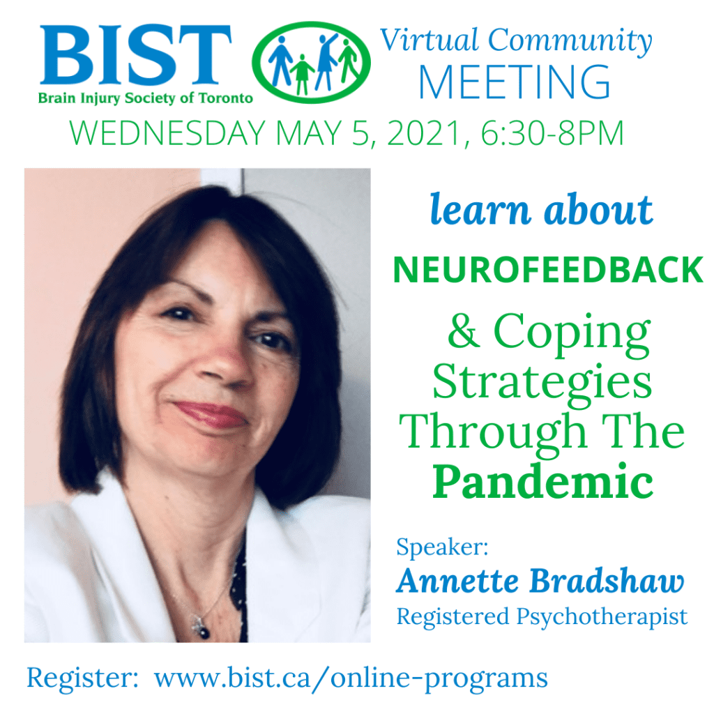 May Community Meeting: learn about neurofeedback & coping strategies during the pandemic
