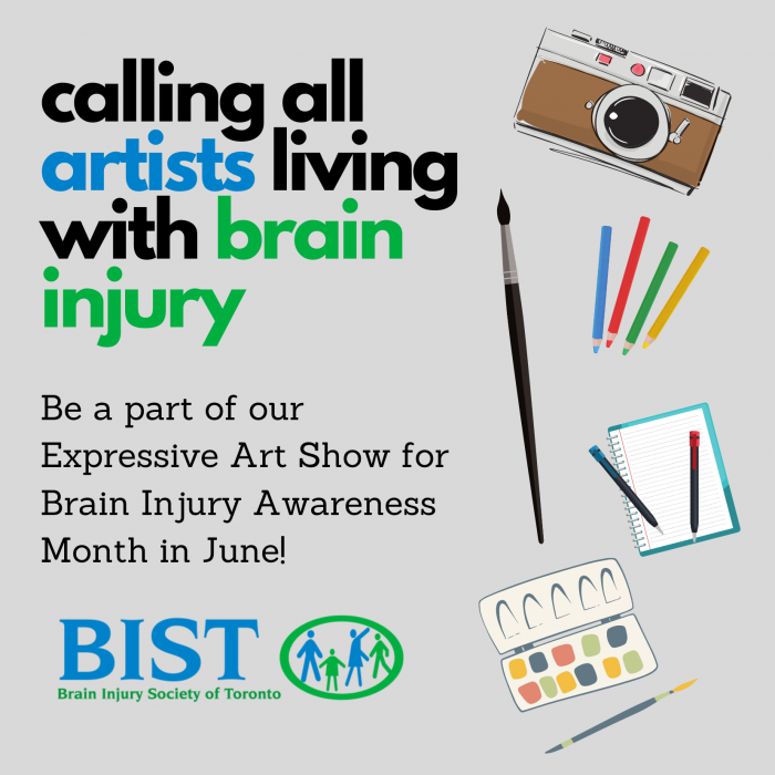 calling all artists living with brain injury