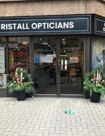 Picture of the storefront at Cristall Opticians