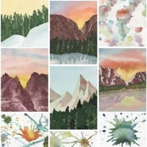 Artsy Paint cover of a variety of images created by the artist