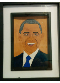 Portrait By Gregory Chan of Barrack Obama