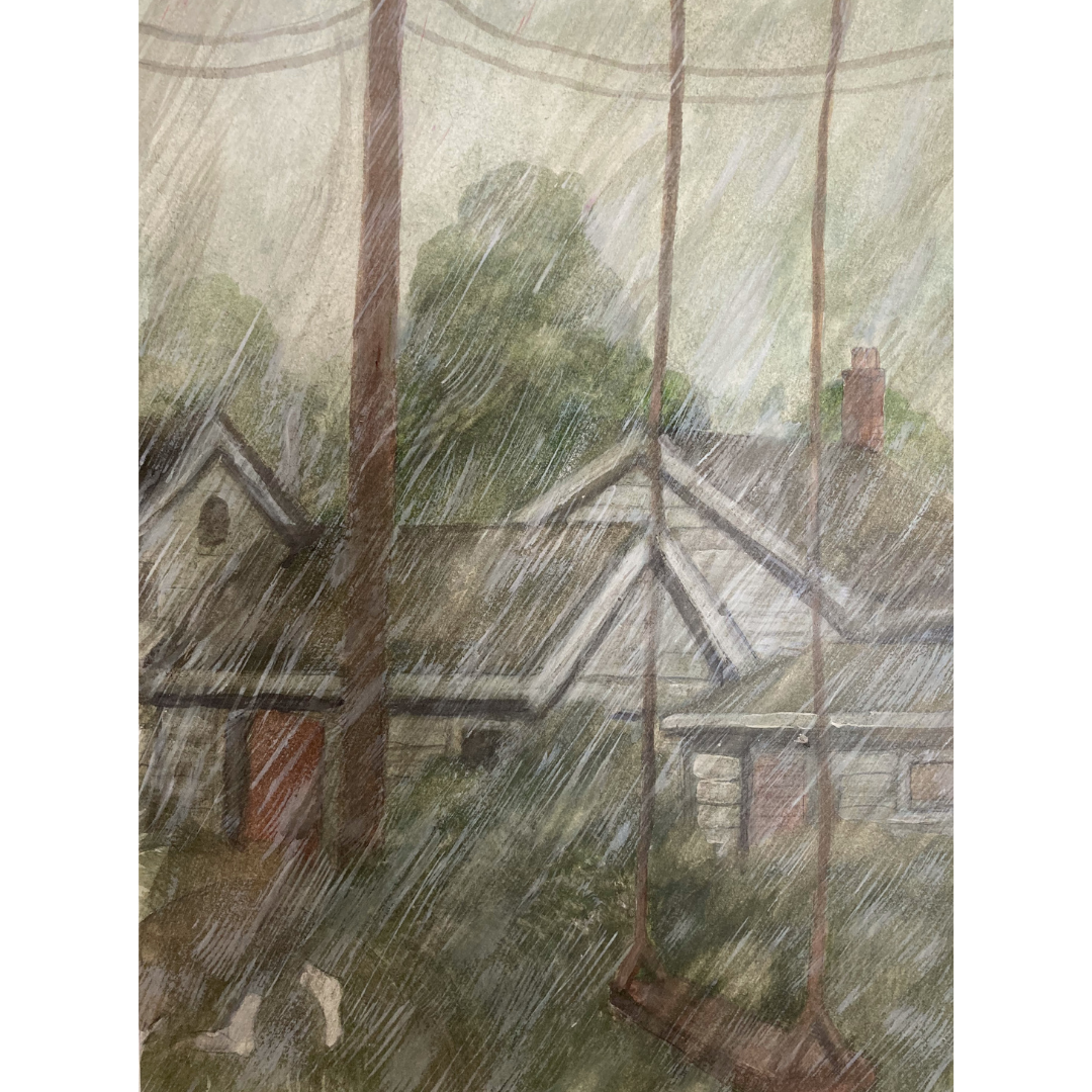 image of cottages in the rain