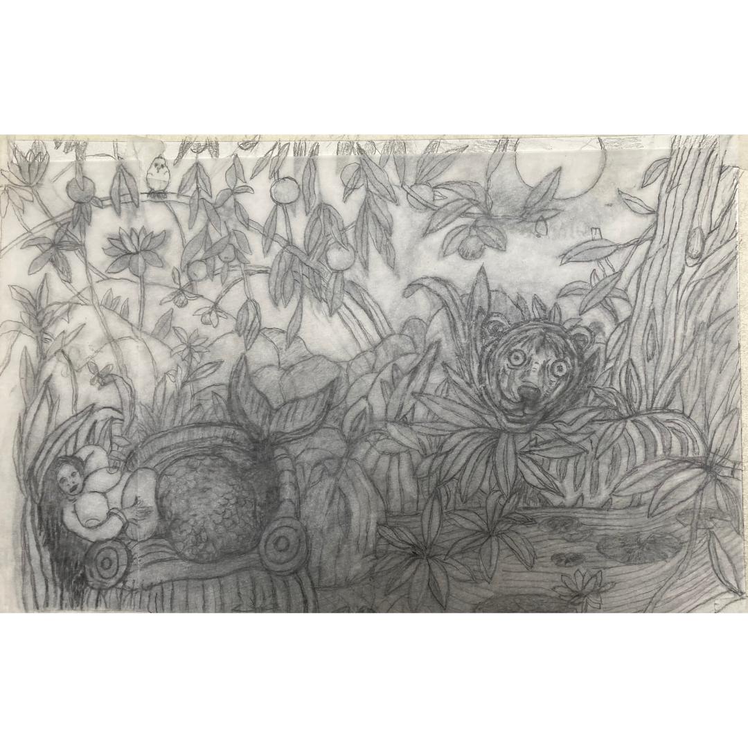 pencil sketch by Lyndon Andrews